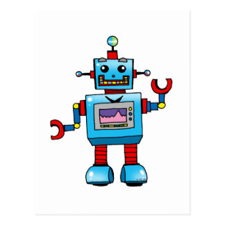Cute robot postcards