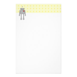 Cute Robot Stationery