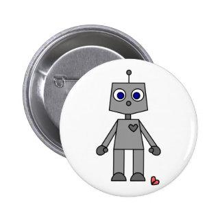 Cute Robot With A Broken Heart 6 Cm Round Badge