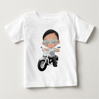 Cute RockStar on Motorcycle Baby T-Shirt