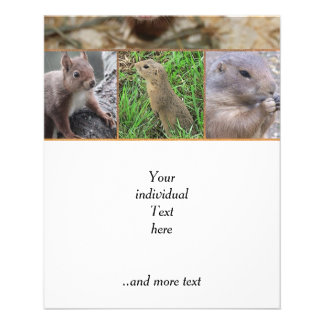 cute rodents flyer