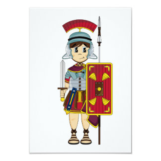 Cute Roman Soldier RSVP Card 9 Cm X 13 Cm Invitation Card