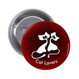 Cute Romantic Cat Couples Button
