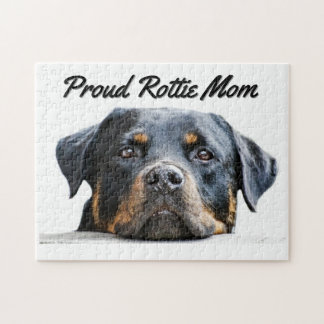 Cute Rottweiler Dog Breed | Proud Rottie Mom Puzzle