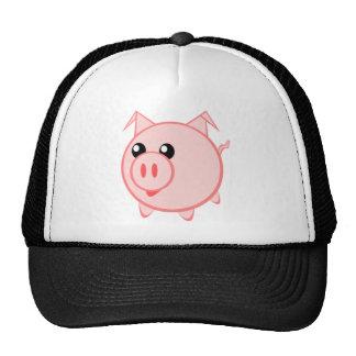 Cute Round Cartoon Pig Mesh Hat