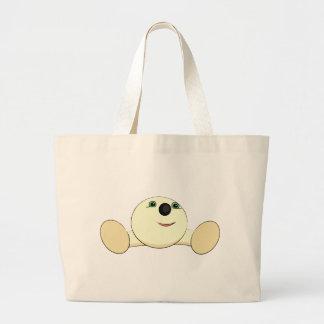 Cute round creature tote bags