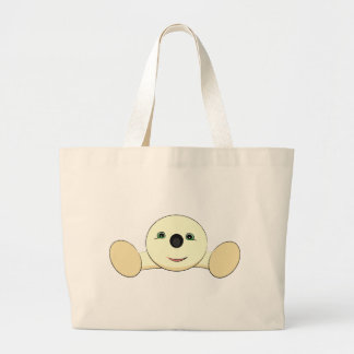 Cute round creature jumbo tote bag