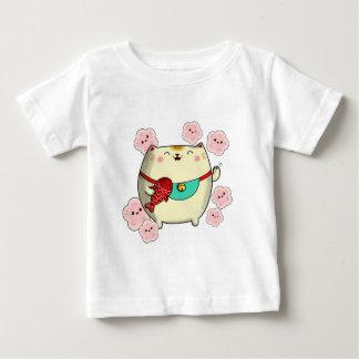 Cute Round Maneki Neko Cat T-shirt