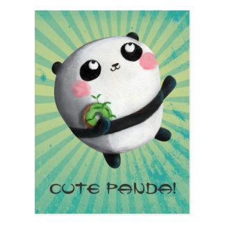 Cute Round Panda Postcard