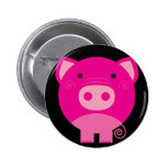 Cute Round Pig Cartoon 6 Cm Round Badge