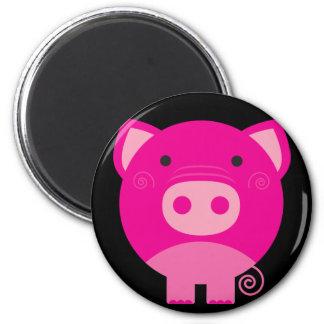 Cute Round Pig Cartoon 6 Cm Round Magnet