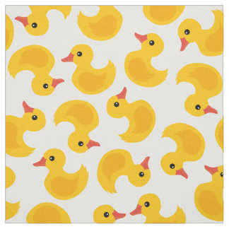 Cute rubber duck pattern fabric