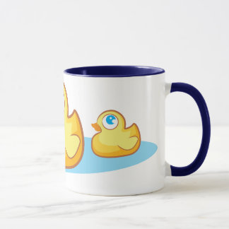 Cute rubber duck with bubbles mug