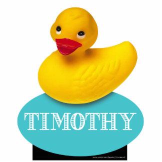 Cute Rubber Ducky | baby blue Standing Photo Sculpture