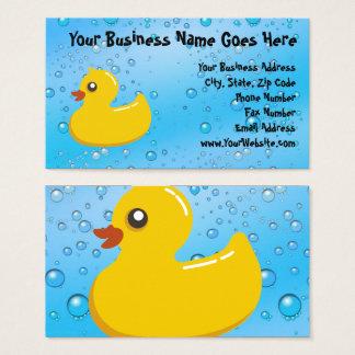 Cute Rubber Ducky/Blue Bubbles Business Card