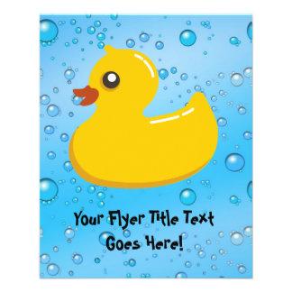 Cute Rubber Ducky/Blue Bubbles 11.5 Cm X 14 Cm Flyer