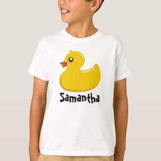 Cute Rubber Ducky/Blue Bubbles T-Shirt
