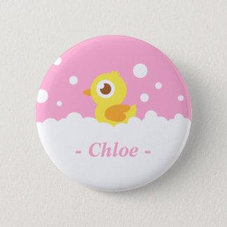Cute Rubber Ducky in Bubble Bath 6 Cm Round Badge
