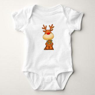 Cute Rudolph Baby Bodysuit