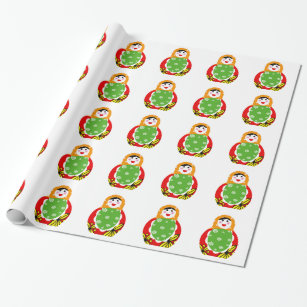 cute Russian nested doll Wrapping Paper