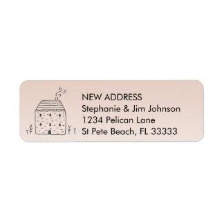 Cute Rustic Cottage New Address Return Address Label