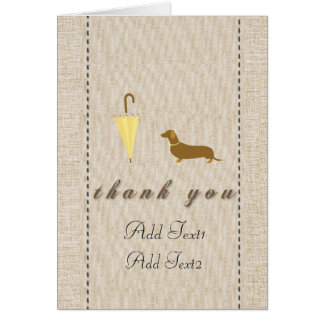 Cute Rustic Dog Lover Thank you  Card