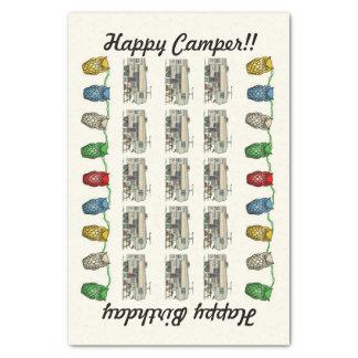 Cute RV Vintage Fifth Wheel Camper Travel Trailer Tissue Paper