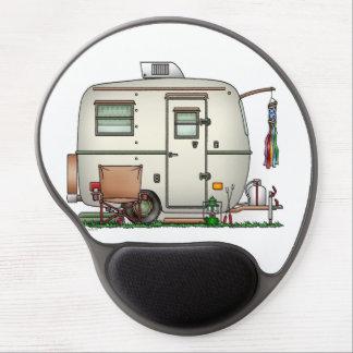Cute RV Vintage Glass Egg Camper Travel Trailer Gel Mouse Pad