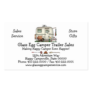 Cute RV Vintage Glass Egg Camper Travel Trailer Pack Of Standard Business Cards