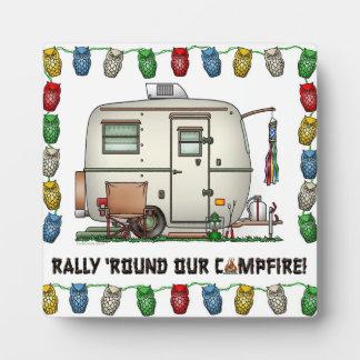 Cute RV Vintage Glass Egg Camper Travel Trailer Plaque
