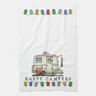 Cute RV Vintage Glass Egg Camper Travel Trailer Tea Towels