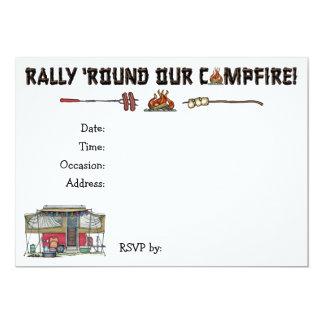 Cute RV Vintage Popup Camper Travel Trailer 13 Cm X 18 Cm Invitation Card
