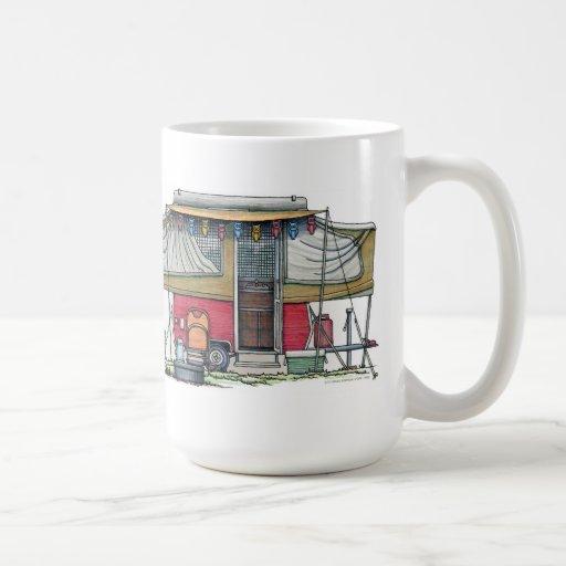 Cute RV Vintage Popup Camper Travel Trailer Mug