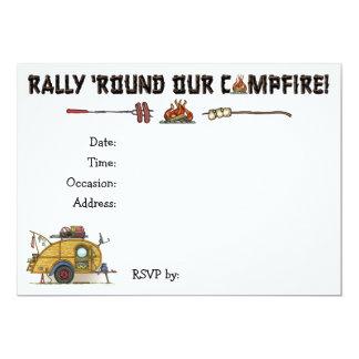 Cute RV Vintage Teardrop  Camper Travel Trailer 13 Cm X 18 Cm Invitation Card