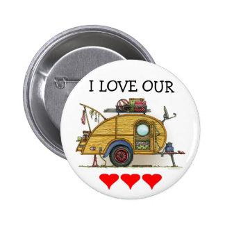 Cute RV Vintage Teardrop Camper Travel Trailer Pins
