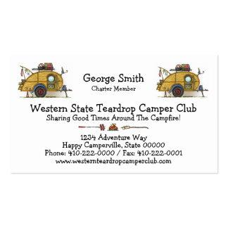 Cute RV Vintage Teardrop  Camper Travel Trailer Business Card Template
