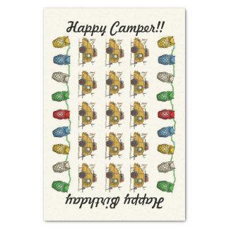 Cute RV Vintage Teardrop  Camper Travel Trailer Tissue Paper