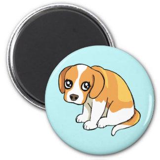 Cute Sad Brown Beagle Puppy Dog Drawing Magnet