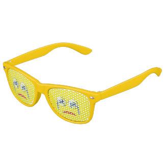 Cute  Sad Crying Emoji Yellow Kids Sunglasses
