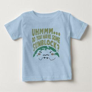 Cute Sad Earth Wanting a Sunblock Baby T-Shirt