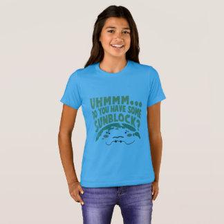 Cute Sad Earth Wanting a Sunblock T-Shirt