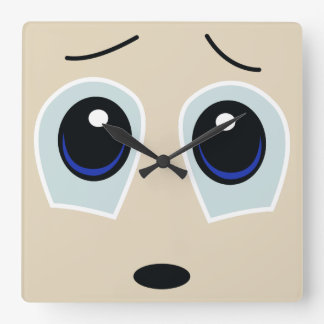 Cute Sad Face Wall Clock