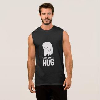 Cute Sad Ghost Just Want a Hug Sleeveless Shirt