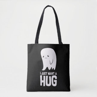 Cute Sad Ghost Just Want a Hug Tote Bag