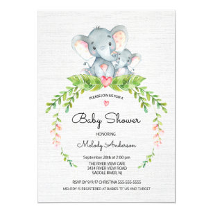Baby shower invitations zazzle cute safari jungle elephant baby shower invitation stopboris Images