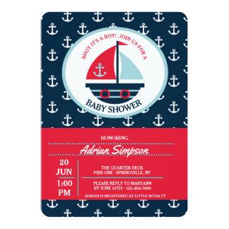Cute Sailboat Invitation