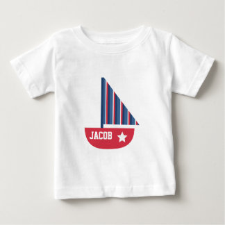 Cute Sailboat Nautical For Baby Boy Baby T-Shirt
