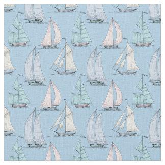 Cute Sailboat Pattern | Monogram 2 Fabric