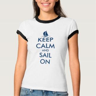 Cute sailing t shirt for women | keep calm sail on