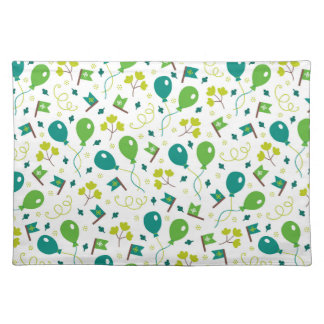 Cute Saint Patrick's Day Balloons and Flags Placemat
